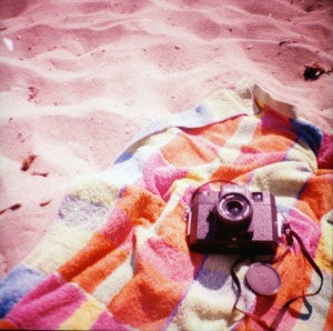 Holga on the beach