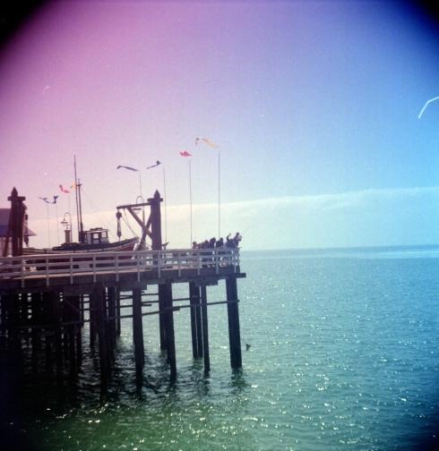 Kodak Portra 160NC - gradient filters -Pescatori a Santa Cruz. Hanno tirato sù uno squaletto.