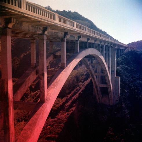 Kodak Portra 160NC - gradient filters - Rocky Creek Bridge sulla Highway 1
