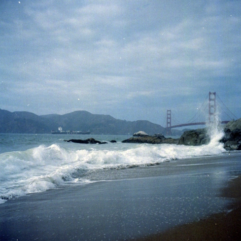 Kodak Portra 160 VC - Baker Beach in a foggy day